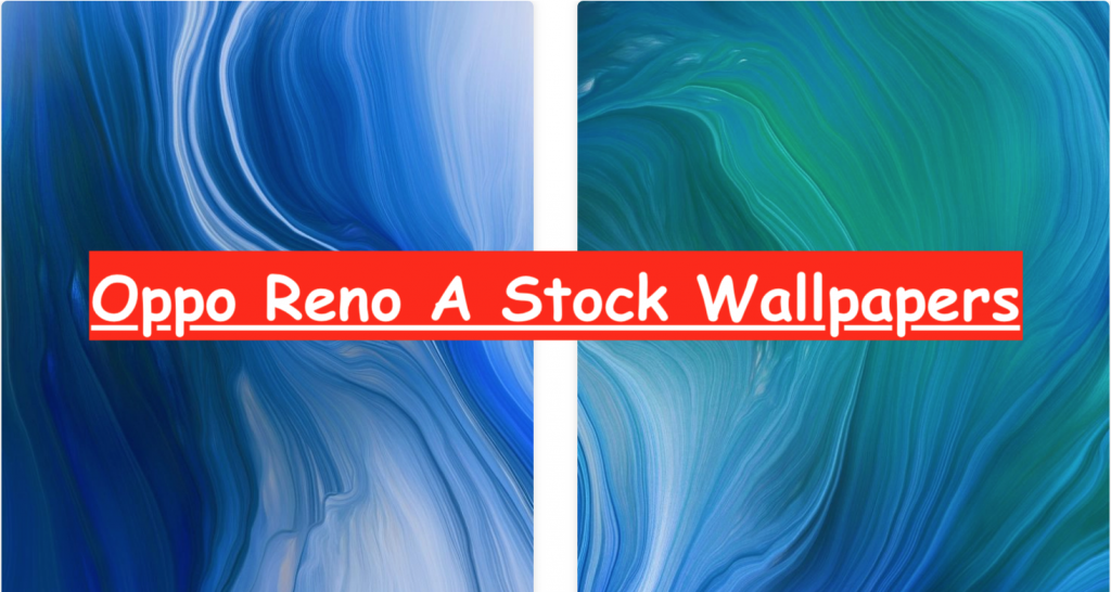 Oppo Reno A Stock Wallpapers
