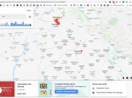 Location History in Google Maps