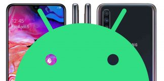 download galaxy a70 android 10