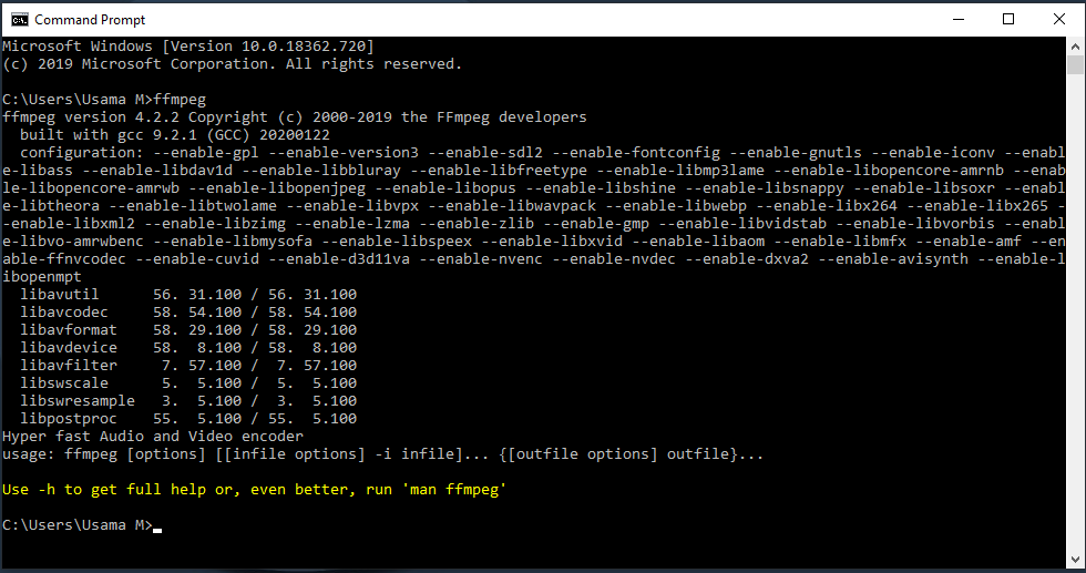 useful FFMPEG Commands