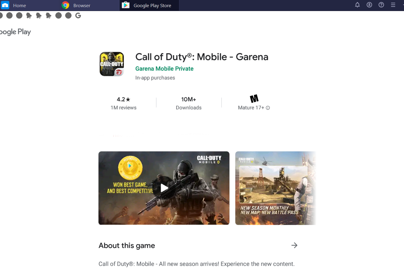 garena call of duty mobile on pc