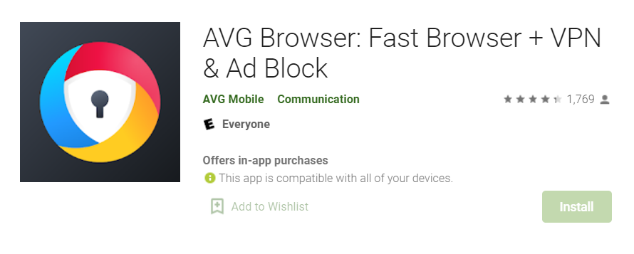 AVG Secure Browser for Mac