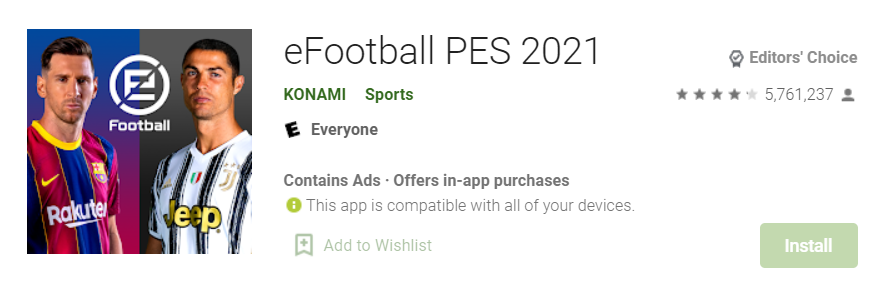 eFootball PES 2021 for Mac
