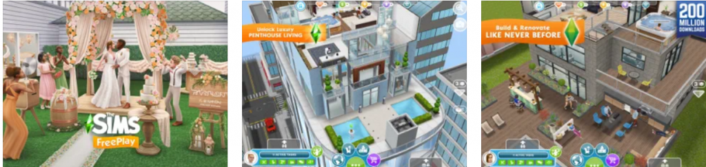Sims Freeplay app PC download